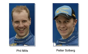 ドライバーのソルベルグとコ・ドライバーのミルズ