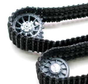 起動輪と誘導輪のチッピング