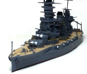 戦艦山城 1944年 砲口は黒く塗っただけ