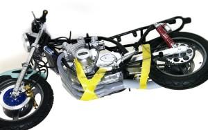 カワサキ・Z1-R改 マフラーの組み立て