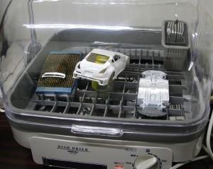 ヤマゼンの非力な食器乾燥機で乾燥