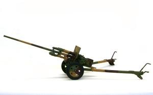 57mm対戦車砲ZIS-2 ウオッシングとドライブラシ