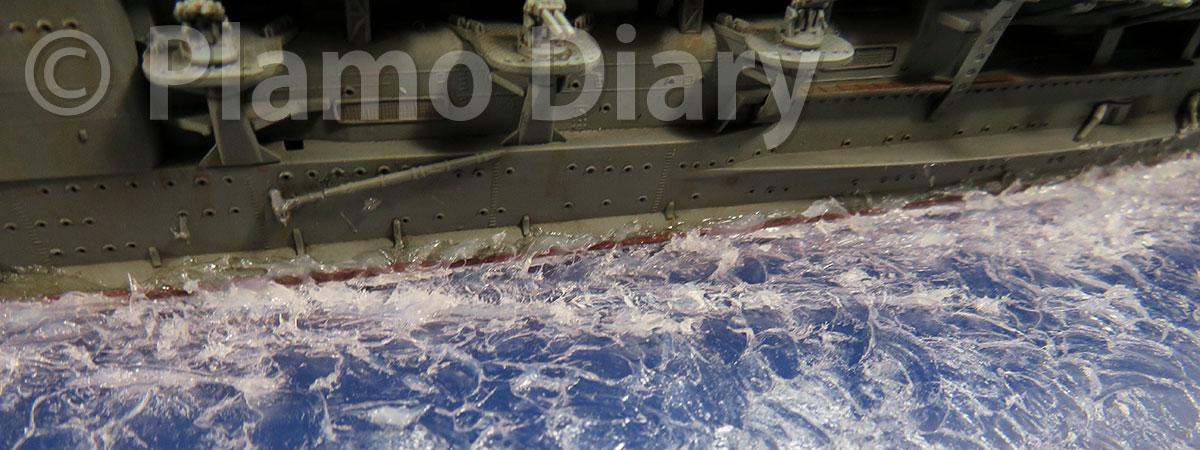 舷側の波の追加