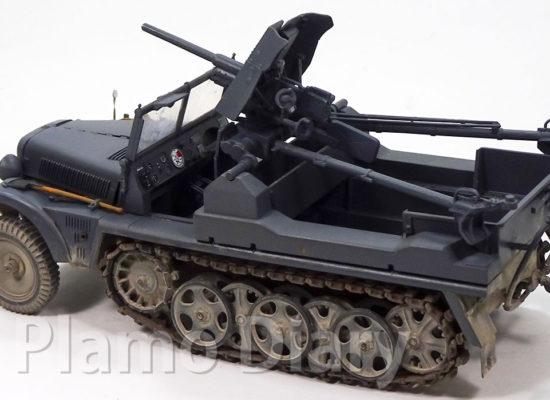 3.7cm対戦車砲の塗装