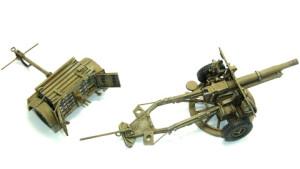 25ポンド砲をドライブラシ