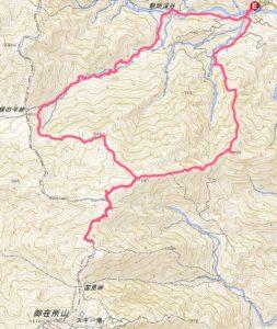 国見岳の地図