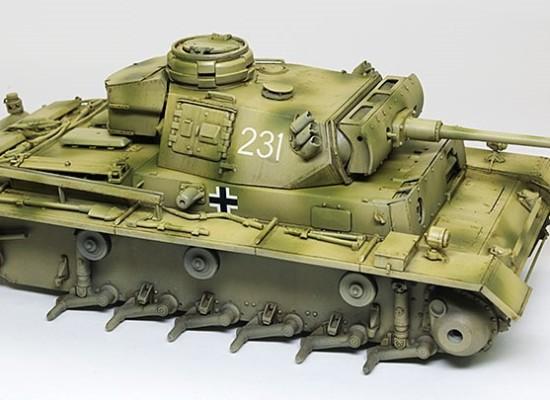 スミ入れ塗料の拭き取り 3号戦車M初期型