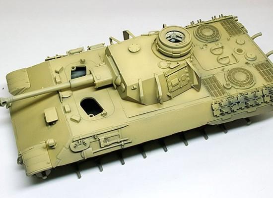 基本塗装 4号戦車砲塔搭載ベルゲパンター
