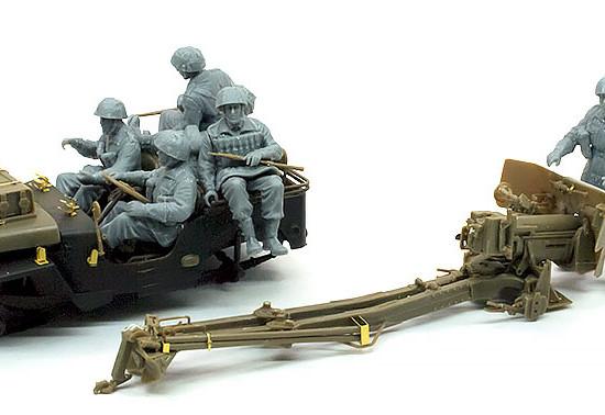 6ポンド対戦車砲 / 1/4tトラック フィギュアの組立て