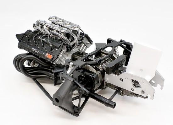 エンジン、リアサスの組み立て