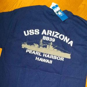戦艦アリゾナのTシャツ