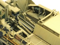 細部の塗分け 2号15cm自走重歩兵砲バイソン2