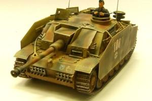 ドライブラシ後の3号突撃砲戦車