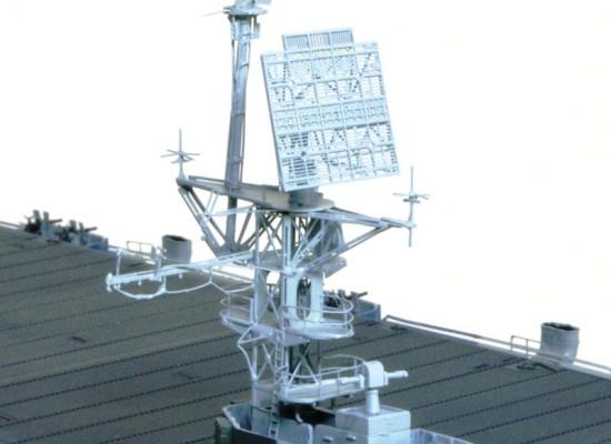 レーダーの塗装 護衛空母CVE-73ガンビアベイ