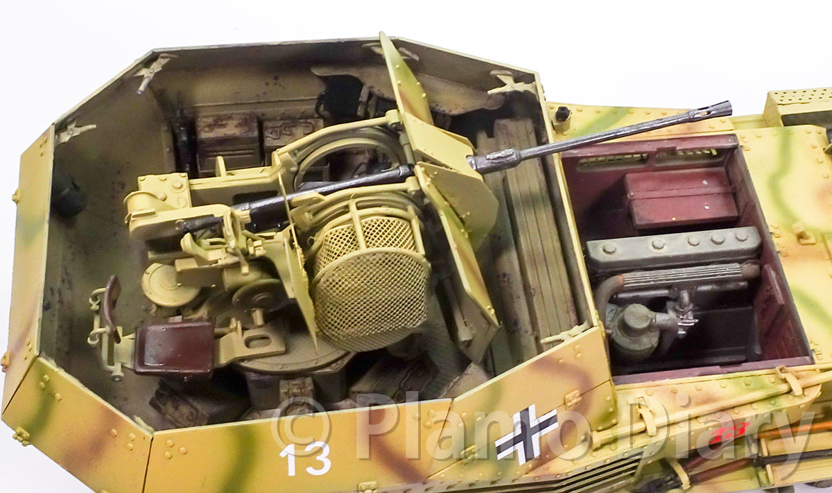 2cmFlak38の細部の塗分け