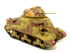 M3グラント中戦車のドライブラシとデカール貼り