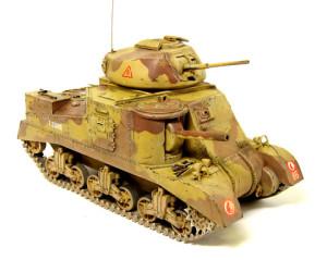 M3グラント中戦車をウエザリング