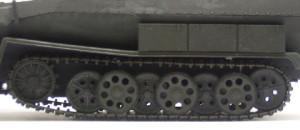 ハノマーグ兵員輸送車のベルト式履帯は垂れていない
