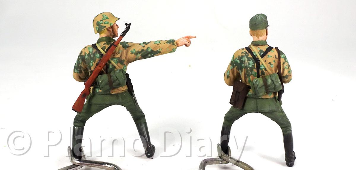 騎兵の服と装備品の塗装