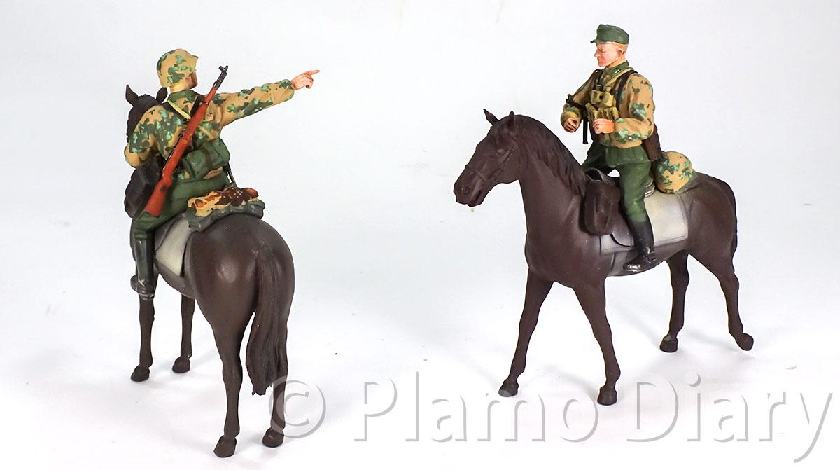 塗装したフィギュアを馬に乗せてみた