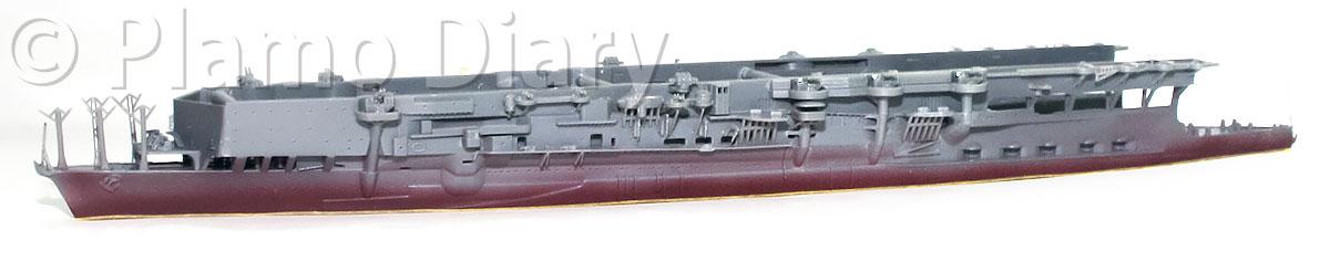 艦底の塗装