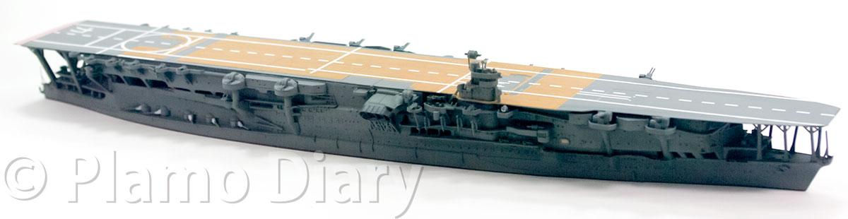 艦橋の制作と甲板の退色