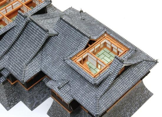 小天守1階2階屋根の塗分け