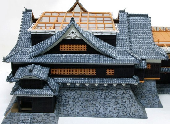 大天守1階の大屋根の塗装