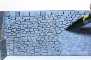 石垣のスミ入れ