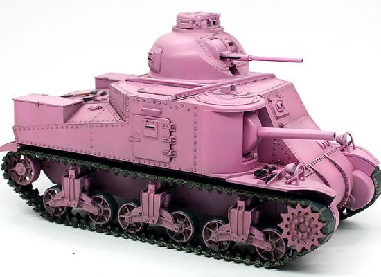 ガルパン・M3リー中戦車 細部の塗分け