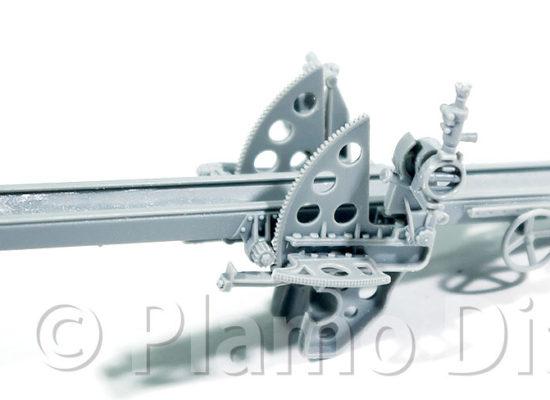 105mm砲の組み立て