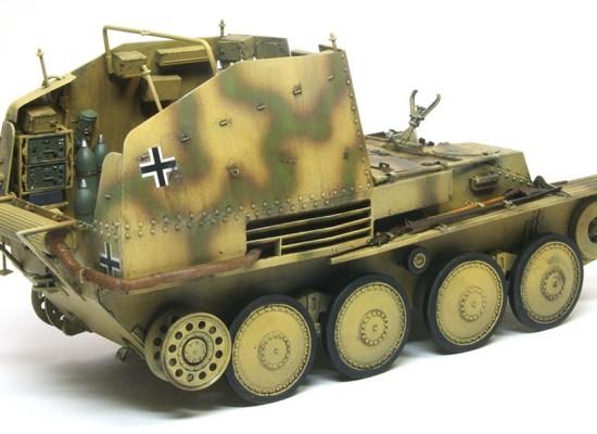 細部の塗分け グリレK型弾薬運搬車
