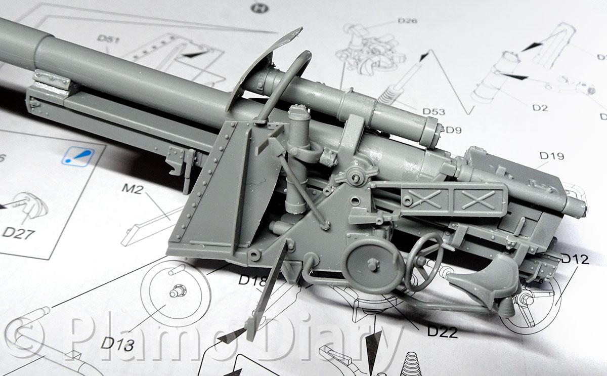 砲架の組立て