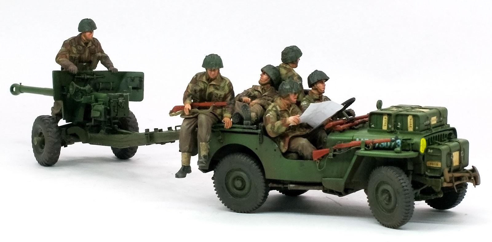 イギリス・6ポンド対戦車砲 空挺部隊 / 1/4tトラック
