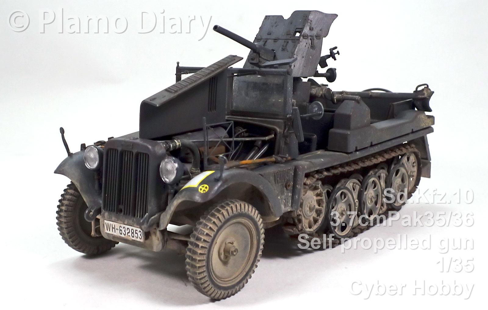 ドイツ・1tハーフトラック3.7cm対戦車自走砲 1/35 サイバーホビー