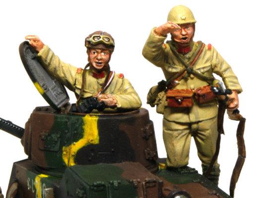 グレナディアモデルの帝国陸軍94式軽装甲車戦車兵&歩兵セットです。小柄な戦時中の日本人の体型を正確に表現したレジンフィギュアセットです。
