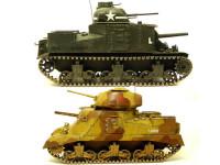 どうでしょうか?兄弟戦車を並べてみました。ヨーロッパ戦線とアフリカ戦線の車体の汚れ方の違いを表現してみたかったのですが・・・う~ん、こんなもんかな、ってとこです。模型作りは自己満足の世界です。オレ流ということでこれで良しとします。