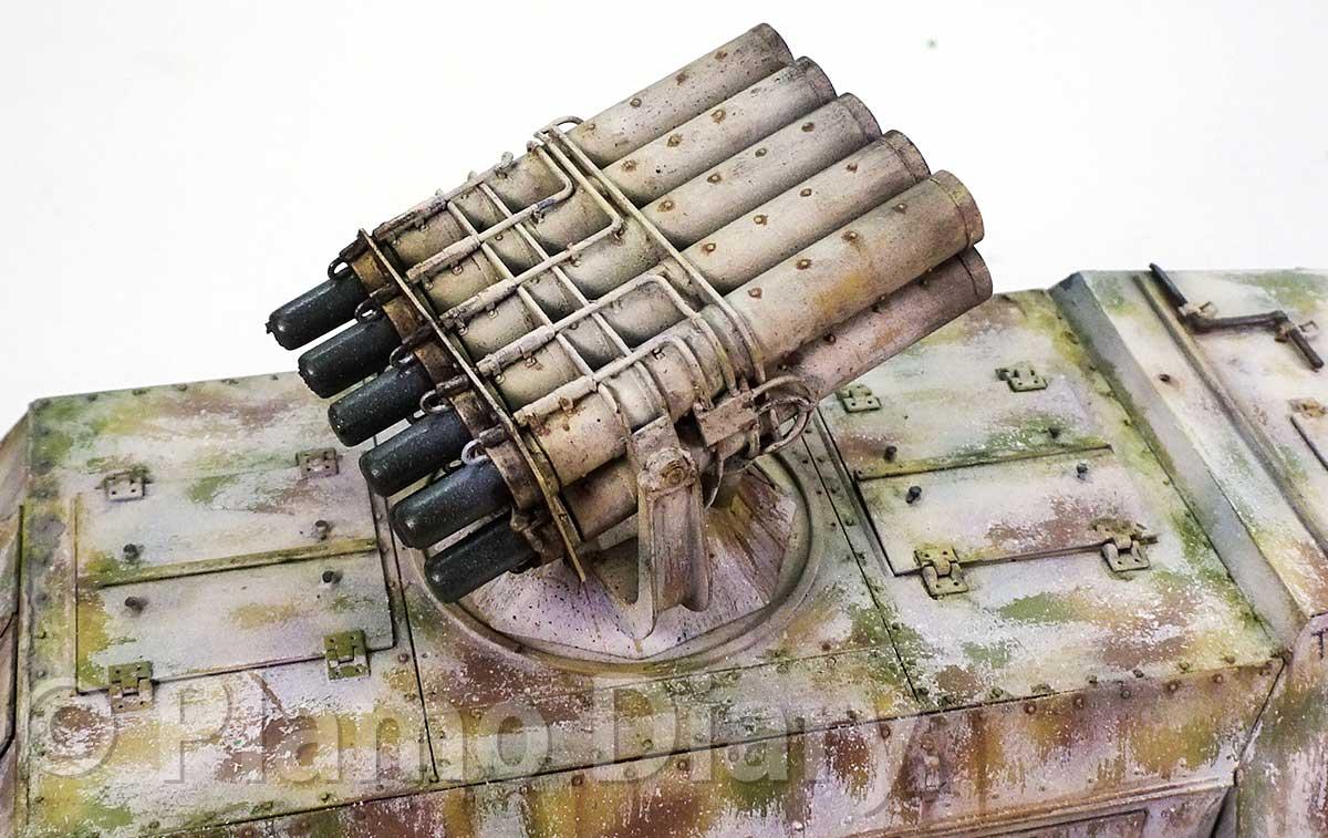 ロケット砲の仕上げ