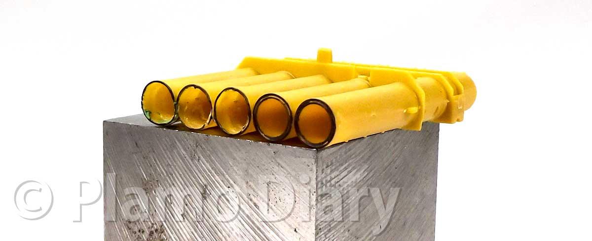 発射筒の薄削り