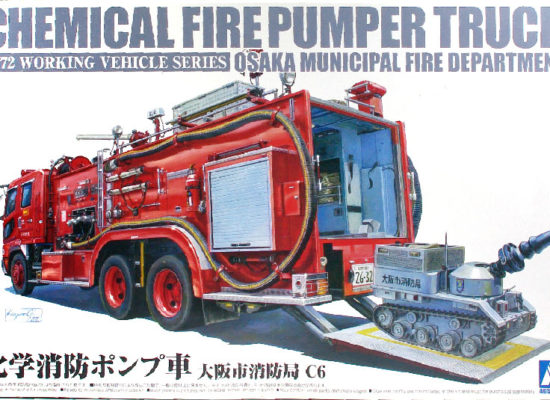 化学消防ポンプ車 1/72 アオシマ