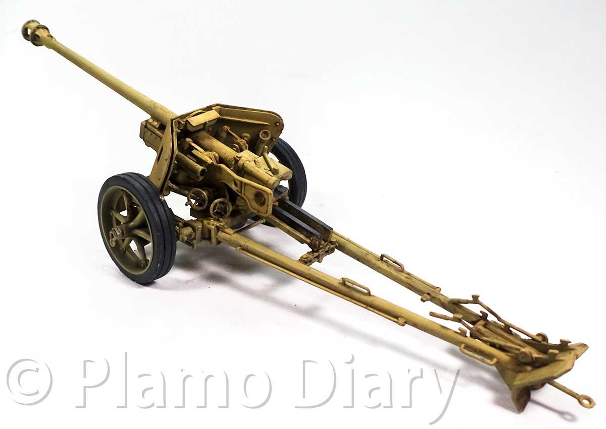 7.5cmPak40対戦車砲のスミ入れ