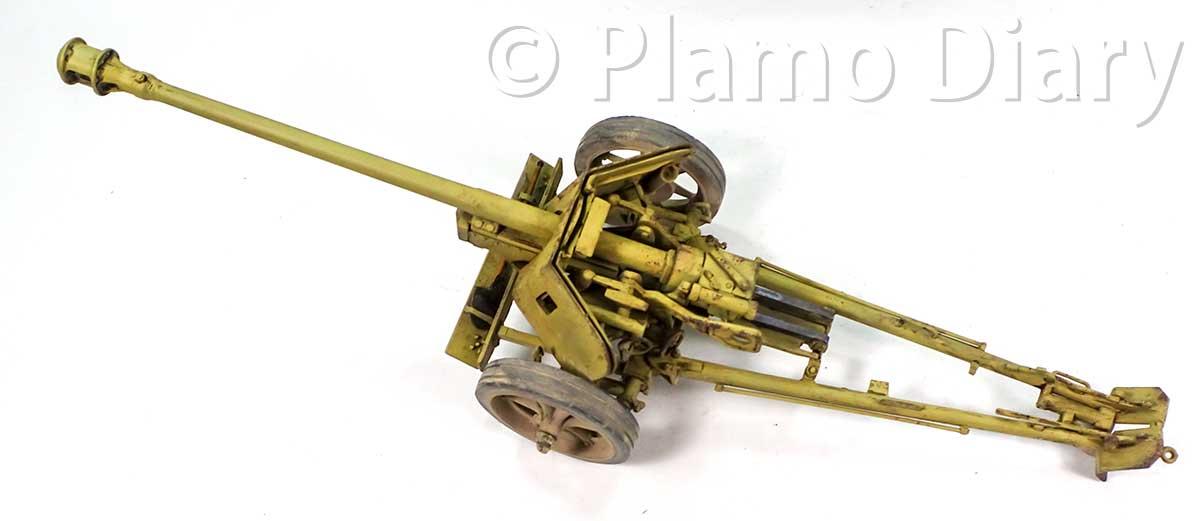 7.5cmPak40対戦車砲の仕上げ