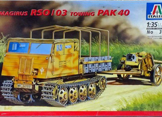 シュタイアー・RSO/03トラクター Pak40牽引 1/35 イタレリ