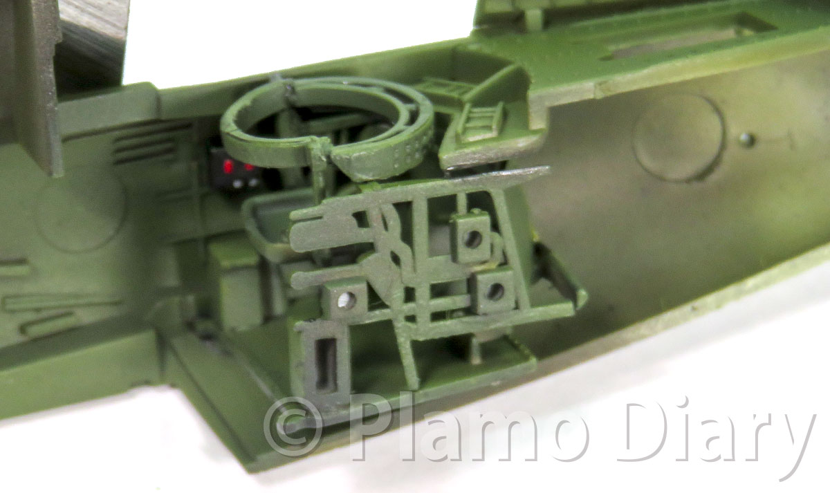 機銃手席の塗装