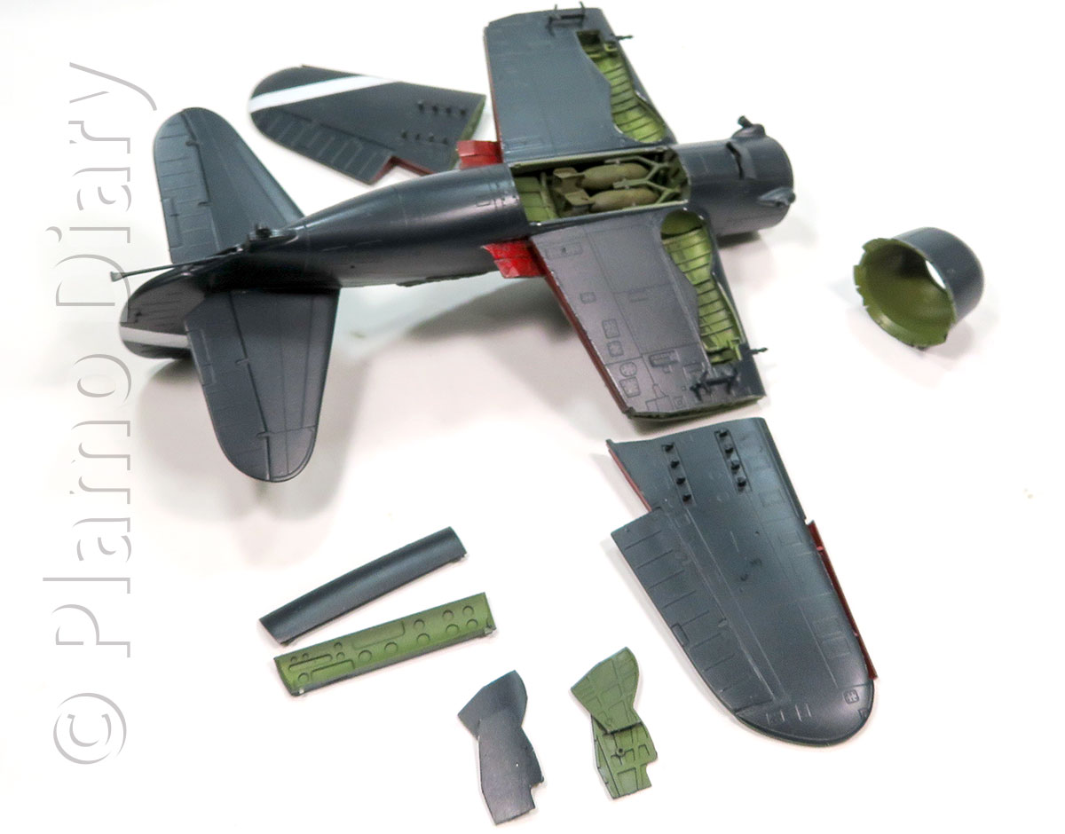 機体の基本塗装