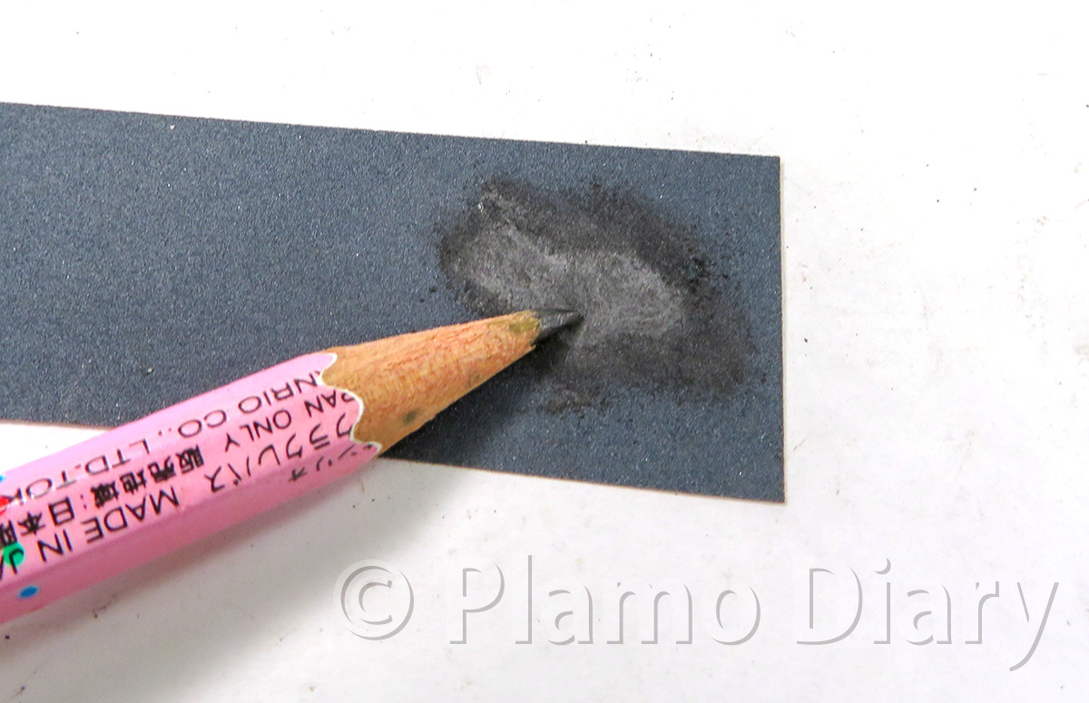 鉛筆の粉を作る
