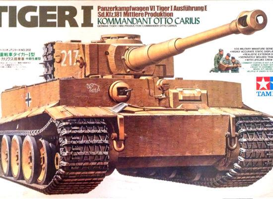 ドイツ重戦車タイガー1型中期生産型 オットーカリウス搭乗車 1/35 タミヤ
