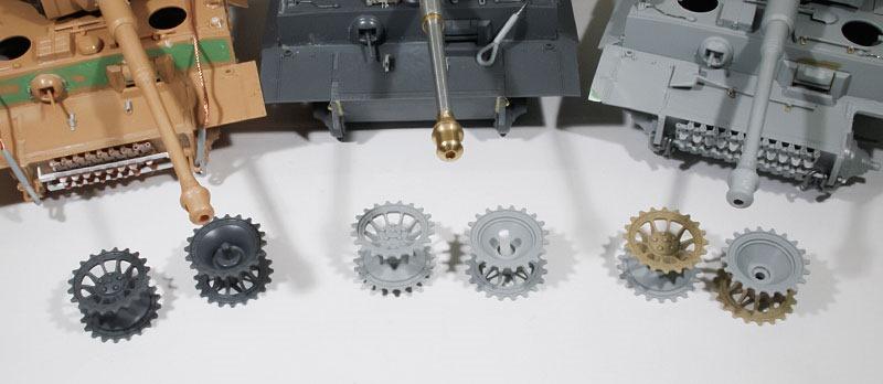 2種類の初期型の起動輪
