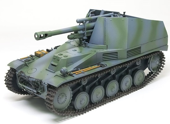 細部の塗分け 2号自走榴弾砲ヴェスペ