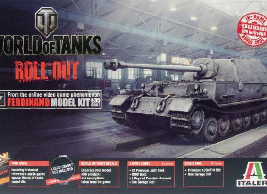 World of Tanks・フェルディナンド駆逐戦車 1/35 イタレリ